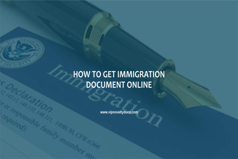 How to get immigration documents online